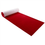 3'x8' red carpet runner with rubber backing