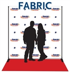 Sign Art Etc, Fabric Step and Repeat 8x8 with Stand and Red Carpet