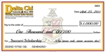 "Dry erase big check, 18"" x 36"" on lightweight foam core backing"