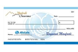 Large novelty check, 22 x 44 with foam core back.