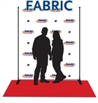 Fabric photo op backdrop, 8'x6' shipped with aluminum stand and 3x8 red carpet.