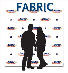 Fabric event backdrop, 8ft x 8ft banner with four color digital print.