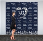 Step and repeat backdrops sized 8x8 for a 2 person pose. Printed in stunning full color on wrinkle-free vinyl.