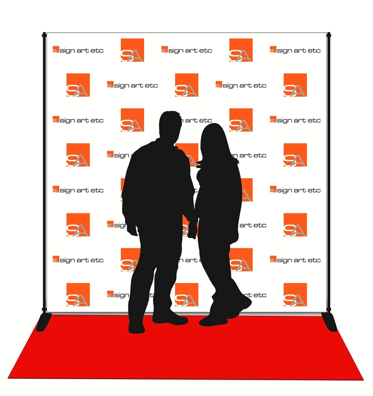 Red Carpet Backdrop Quality Step Repeat Banner And Stand